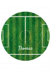Disco di zucchero personalizzabile campo di calcio