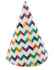 6 cappellini multicolori per feste