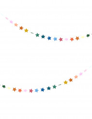 Ghirlanda di stelle multicolori lunga 3 metri