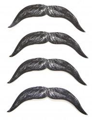 4 paia di baffi di cartone per bambino