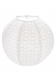 Lanterna effetto pizzo vintage bianco 35 cm