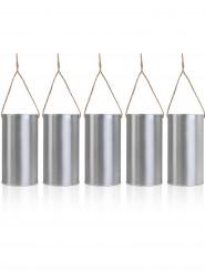5 barattoli in acciaio da appendere