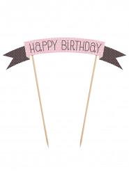 Decorazione rosa per torta Buon Compleanno