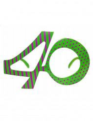Occhiali da adulto a forma di numero 40