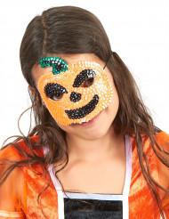 Maschera con paillettes zucca per bambini