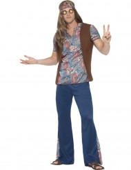 Costume da hippie blu per uomo