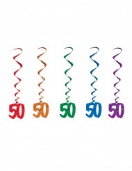 5 Ghirlande verticali per festa 50 anni