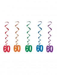 5 ghirlande verticali per 60 anni