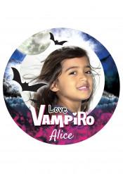 Disco di zucchero personalizzabile vampiro nero