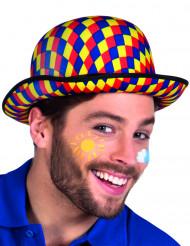 Cappello multicolore da clown a bombetta per adulti