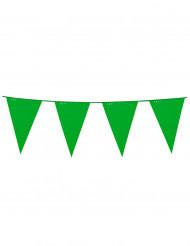 Ghirlanda in plastica bandierine verdi