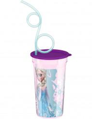 Bicchiere con cannuccia di Frozen