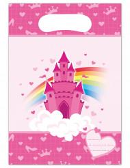 6 buste regalo di plastica Castello da principessa