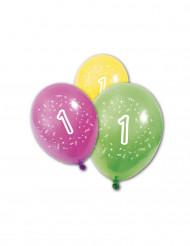 8 palloncini di compleanno 1 anno
