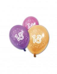 8 palloncini in lattice per compleanno 18 anni
