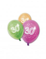 8 palloncini compleanno 30 anni