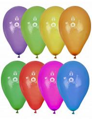 8 palloncini principesse multicolor