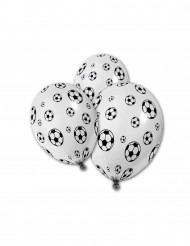 5 Palloncini con stampa pallone da calcio