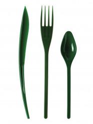 30 posate di plastica verdone