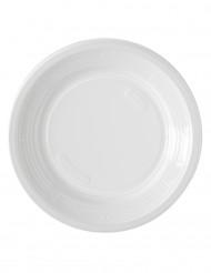 50 piatti bianchi di plastica da dessert 17 cm