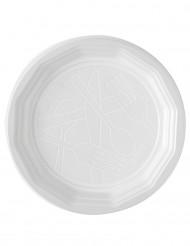 100 piatti piatti di plastica bianchi 20 cm