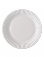 100 piatti di cartone bianchi biodegradabili 18 cm