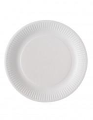 100 piatti di cartone bianchi biodegradabili 23 cm