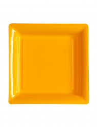 12 piattini quadrati arancioni 18 cm