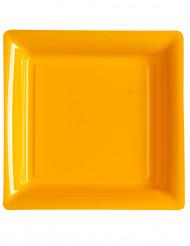 12 piatti quadrati arancioni 23 cm