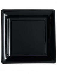 12 piatti neri quadrati 23 cm