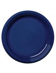 50 piattini blu marine