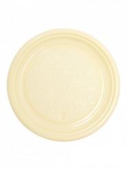 50 piatti da dessert in plastica avorio 17 cm