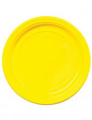 50 piattini di plastica gialli