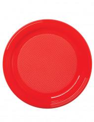 50 piattini in piattini rossi