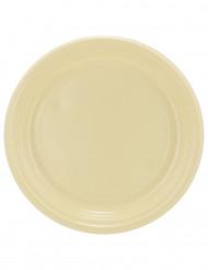 30 piatti in plastica color avorio