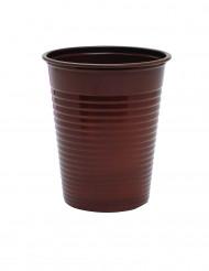 50 bicchieri di plastica color cioccolato