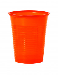 50 bicchieri arancioni di plastica