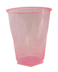 10 Bicchieri di plastica fucsia 25 cl
