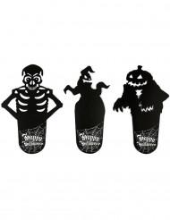 Sottobicchieri con ombre di Halloween