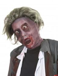 Passamontagna con parrucca zombie adulto