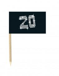 10 bandierine con bastoncino compleanno 20 anni
