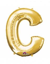 Palloncini in alluminio lettera C dorato