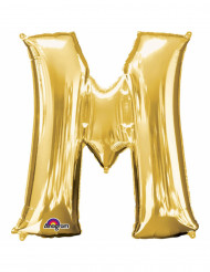 Palloncino lettera M dorata