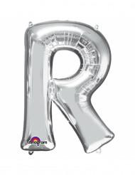 Palloncino argentato lettera R
