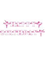 Ghirlanda Happy Birthday con ballerine 180 cm