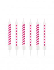 10 candeline a zig zag e pois rosa