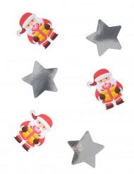 20 coriandoli giganti Babbo Natale