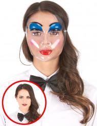 Maschera trasparente donna con trucco