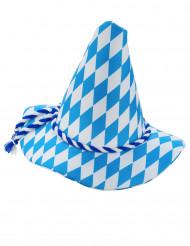 Cappello bavarese blu e bianco per adulto