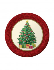 8 piattini Albero di Natale 18 cm